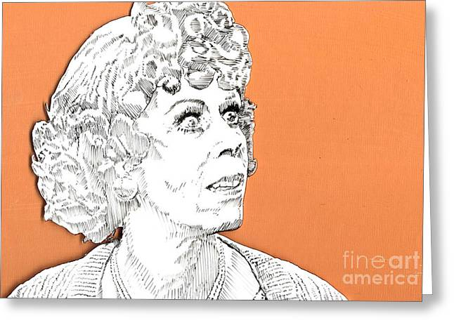momma on Orange Greeting Card by Jason Tricktop Matthews