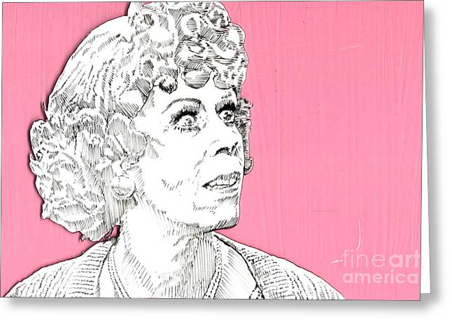 Momma On Pink Greeting Card by Jason Tricktop Matthews