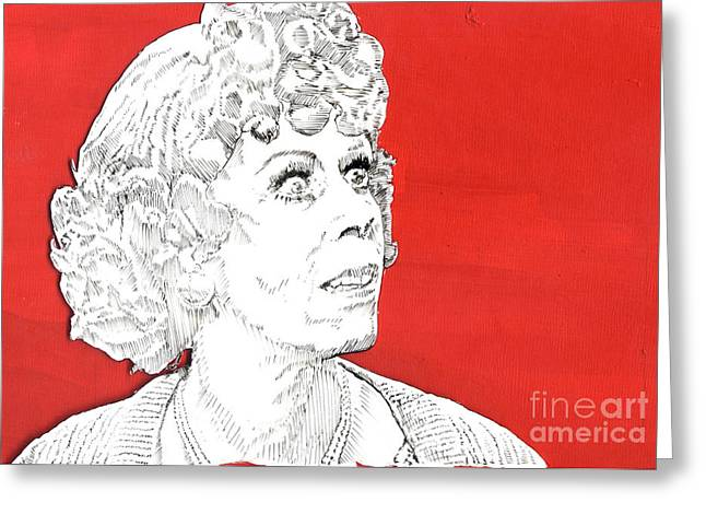 momma on red Greeting Card by Jason Tricktop Matthews
