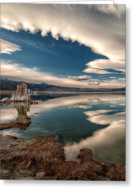 Tufa Greeting Cards - Mono Lake Greeting Card by Cat Connor