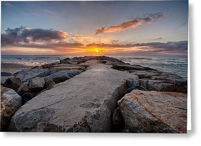 Jetty Greeting Cards - Monolith Greeting Card by Peter Tellone