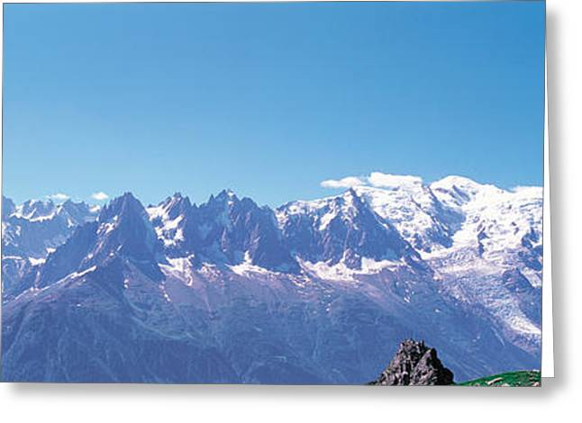 Snow Capped Greeting Cards - Mont Blanc France Greeting Card by Panoramic Images