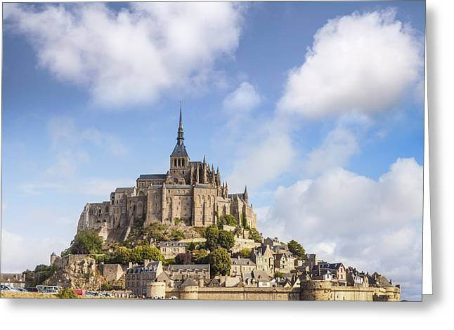 Abbey Greeting Cards - Mont St Michel Normandy France Greeting Card by Colin and Linda McKie
