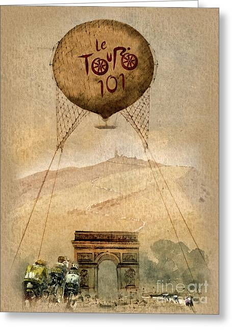 Tour Mixed Media Greeting Cards - Mont Ventoux Greeting Card by Mo T