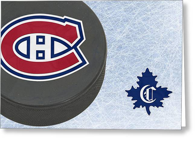 Canadian Greeting Cards - Montreal Canadians Greeting Card by Joe Hamilton