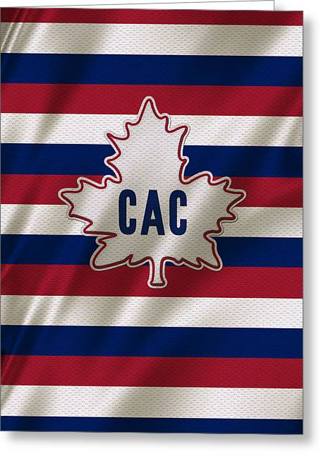 Cup Greeting Cards - Montreal Canadiens Uniform Greeting Card by Joe Hamilton