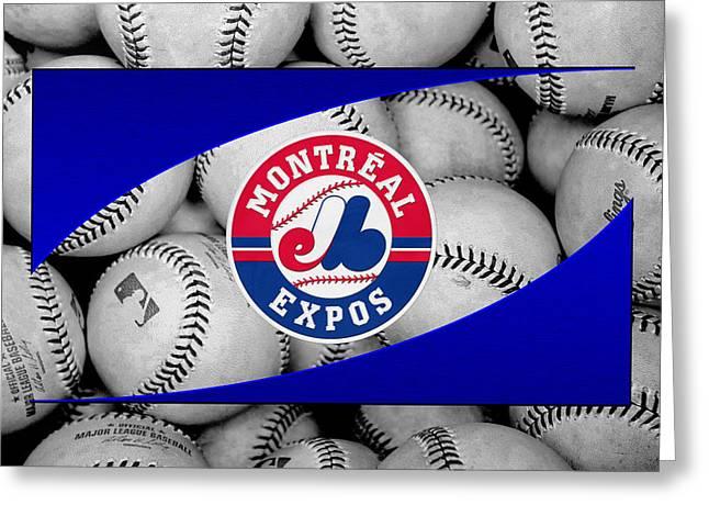 Expos Greeting Cards - Montreal Expos Greeting Card by Joe Hamilton