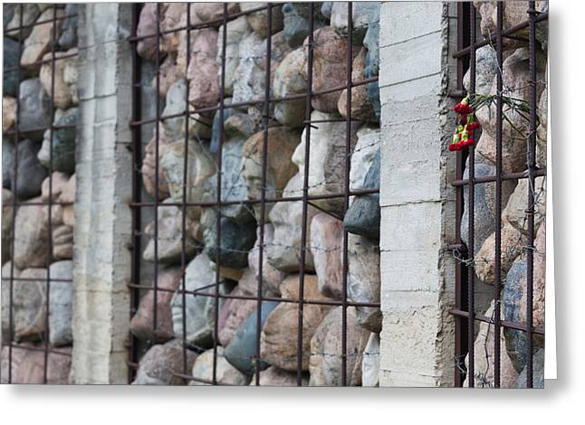 Historic Statue Greeting Cards - Monument To Victims Of Soviet-era Greeting Card by Panoramic Images