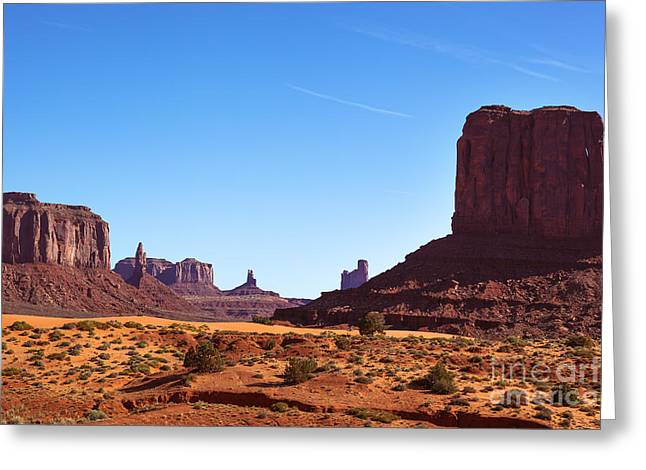 Monument Valley Landscape Greeting Card by Jane Rix