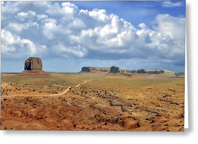 Historic Site Greeting Cards - Monument Valley Navajo Tribal Park Arizona Greeting Card by David  Zanzinger