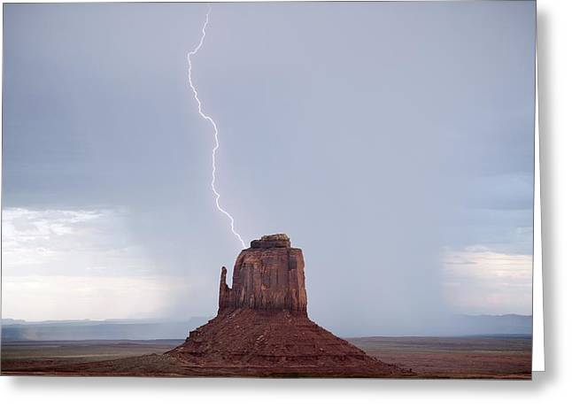 Arizona Lightning Greeting Cards - Monument Valley, USA Greeting Card by Science Photo Library