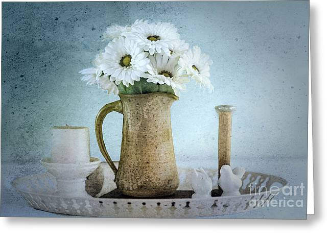 Still Life Photographs Greeting Cards - Moody Blue Greeting Card by Betty LaRue