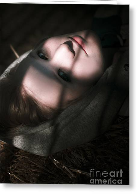 Moonlit Night Greeting Cards - Moon Lit Face Greeting Card by Ryan Jorgensen