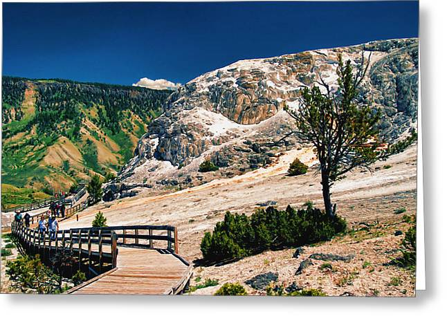 Geology Photographs Greeting Cards - Moon on Earth 2 - Yellowstone Greeting Card by Allen Beatty