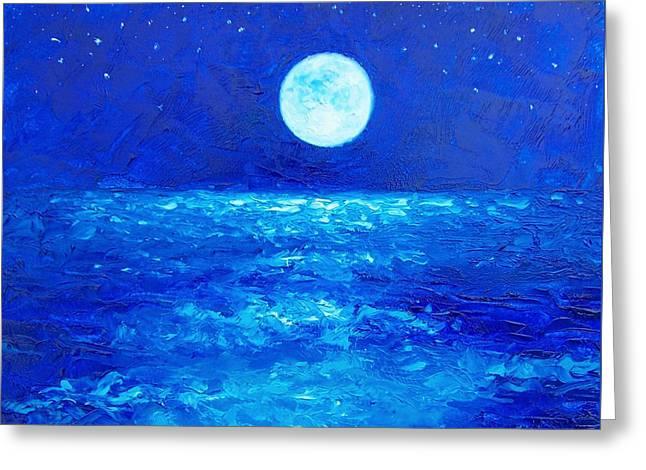 Moon Rise Greeting Card by Jan Matson