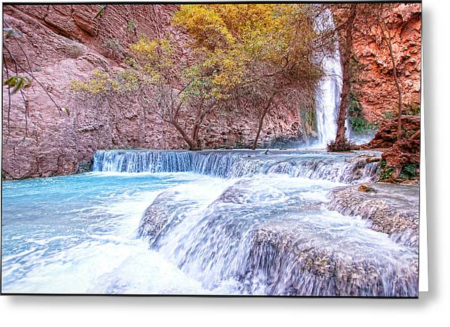 Mooney Falls Greeting Card by Stellina Giannitsi