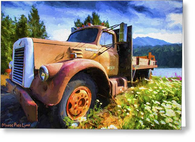 Limo Greeting Cards - Moose Pass Limo Greeting Card by David Wagner