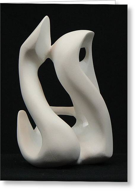 Couples Sculptures Greeting Cards - More than dancing Greeting Card by Yusimy Lara