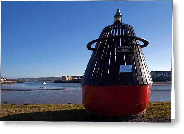 Historic Ship Greeting Cards - Moresby Memorial Bouy , County Greeting Card by Panoramic Images