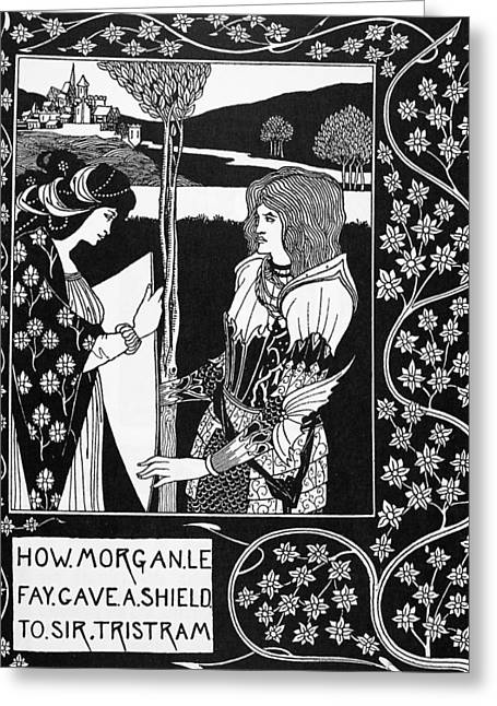 Morgan Le Fay Greeting Card by Granger