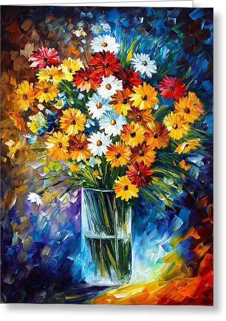 Enjoying Life Paintings Greeting Cards - Morning Charm Greeting Card by Leonid Afremov