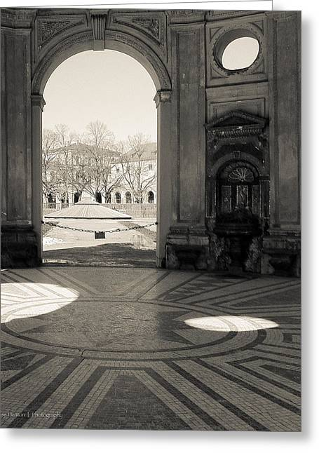 Deutschland Greeting Cards - Morning in the Hofgarten Greeting Card by Ross Henton