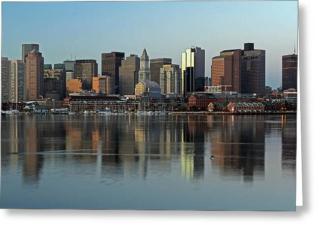 Beantown Greeting Cards - Morning Reflection Greeting Card by Juergen Roth