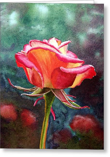 Morning Rose Greeting Card by Irina Sztukowski