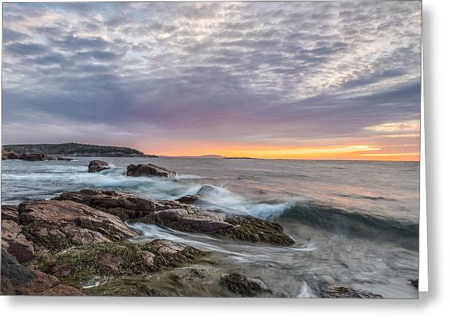 Acadia National Park Photographs Greeting Cards - Morning Splash Greeting Card by Jon Glaser