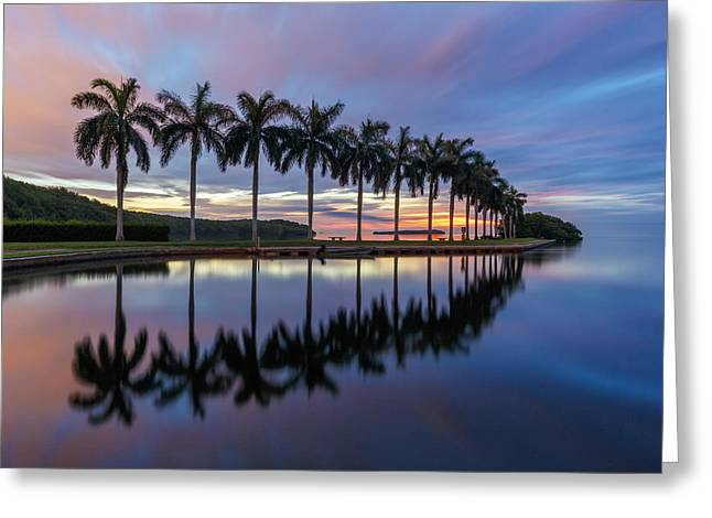 Claudia Domenig Greeting Cards - Mornings Reflections II Greeting Card by Claudia Domenig