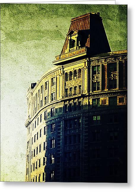 Morningside Heights Greeting Cards - Morningside Heights Green Greeting Card by Natasha Marco