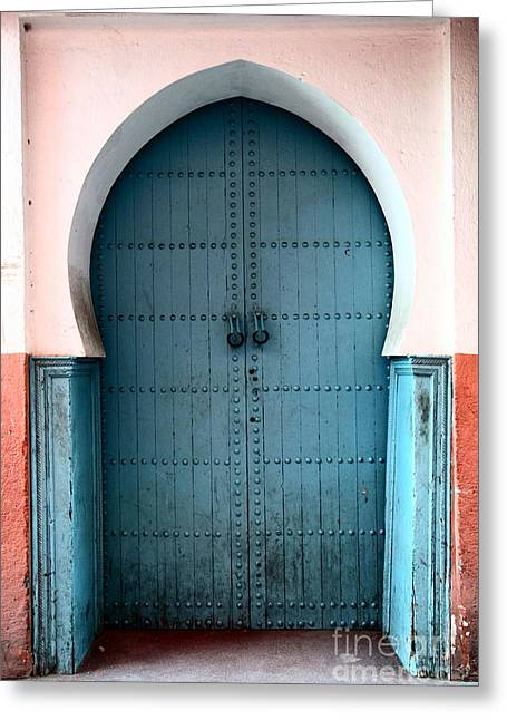 Moroccan Door Greeting Card by Sophie Vigneault