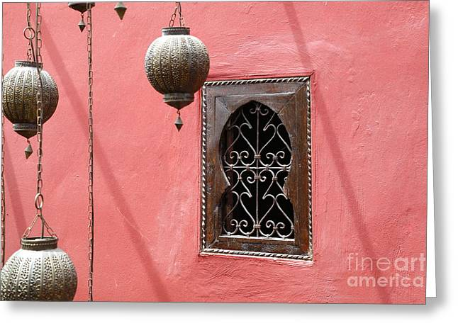 Lampshade Greeting Cards - Moroccan Style Greeting Card by Sophie Vigneault