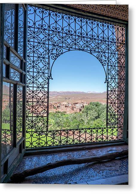 Morocco, Agdz, The Kasbah Of Telouet Greeting Card by Emily Wilson