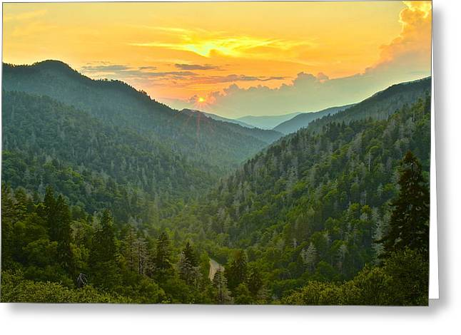 Incline Greeting Cards - Mortons Overlook Greeting Card by Frozen in Time Fine Art Photography