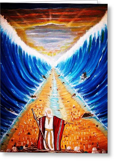 Recently Sold -  - Liberation Greeting Cards - Moses. Greeting Card by Roejae Baptiste