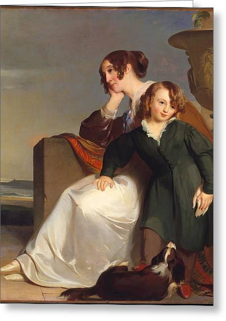 Sully Greeting Cards - Mother and Son Greeting Card by Thomas Sully