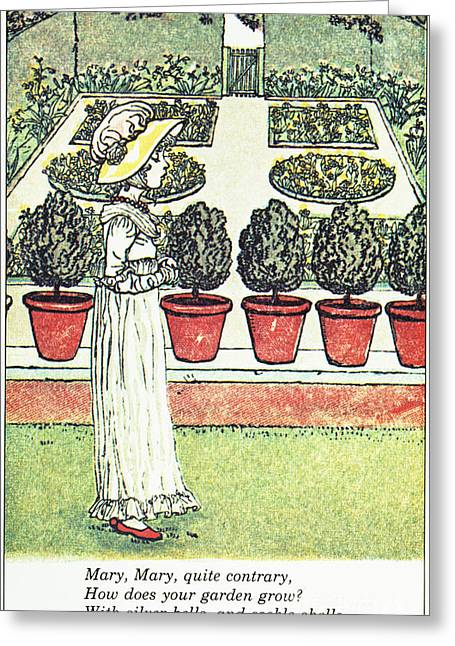 Mother Goose Greeting Cards - Mother Goose, 1881 Greeting Card by Granger