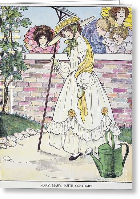 Mother Goose Greeting Cards - Mother Goose, 1916 Greeting Card by Granger