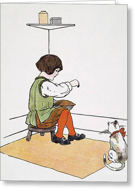 Mother Goose Greeting Cards - Mother Goose: Jack Horner Greeting Card by Granger