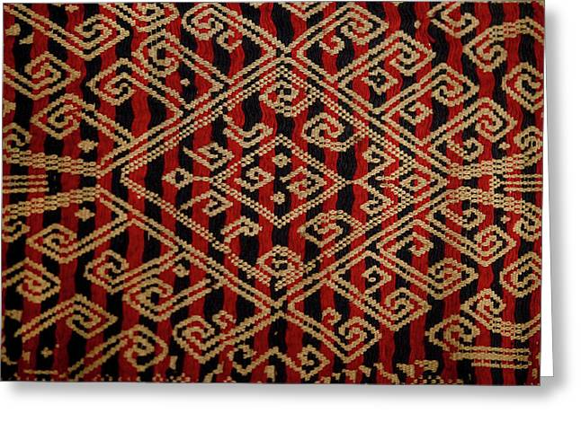 Motif From Antique Asian Textile (pr Greeting Card by Jaina Mishra