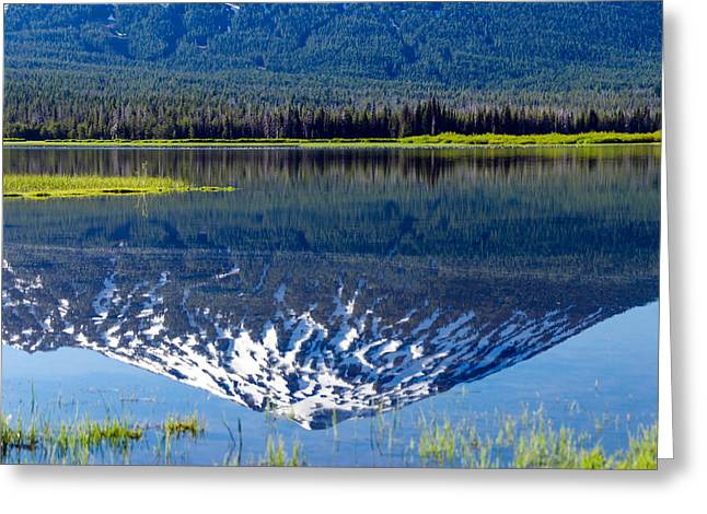 Mt Bachelor Greeting Cards - Mount Bachelor Reflection Greeting Card by Jess Kraft