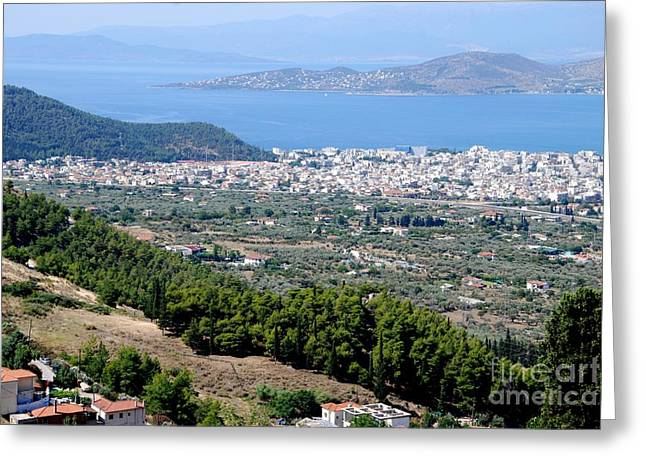 Pelion Greeting Cards - Mount Pelion View Greeting Card by Andrea Simon