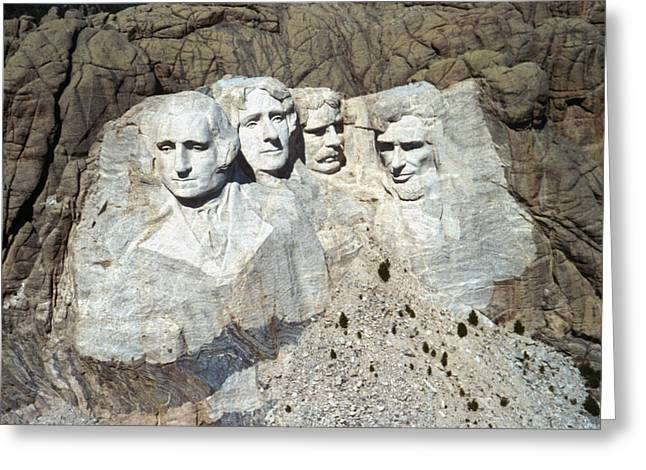 Gutzon Greeting Cards - Mount Rushmore Greeting Card by Granger