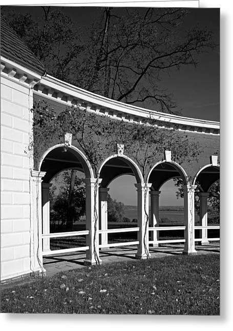 Mount Vernon Greeting Cards - Mount Vernon Colonnade  Greeting Card by Mountain Dreams