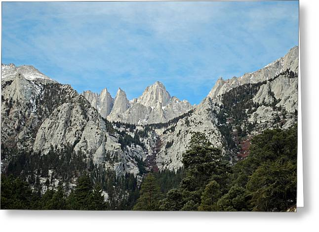 Kings Canyon Greeting Cards - Mount Whitney Greeting Card by Twenty Two North Photography