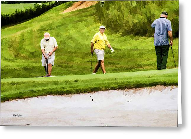 Watercolor Greeting Cards - Mountain Golf Greeting Card by Barry Jones