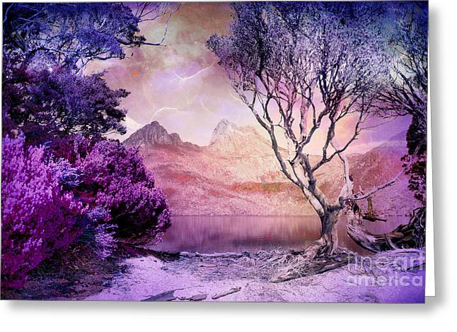 Cradle-mountain Greeting Cards - Mountain in Time Greeting Card by Phill Petrovic