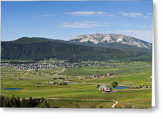 Crested Butte Greeting Cards - Mountain Range, Crested Butte, Gunnison Greeting Card by Panoramic Images