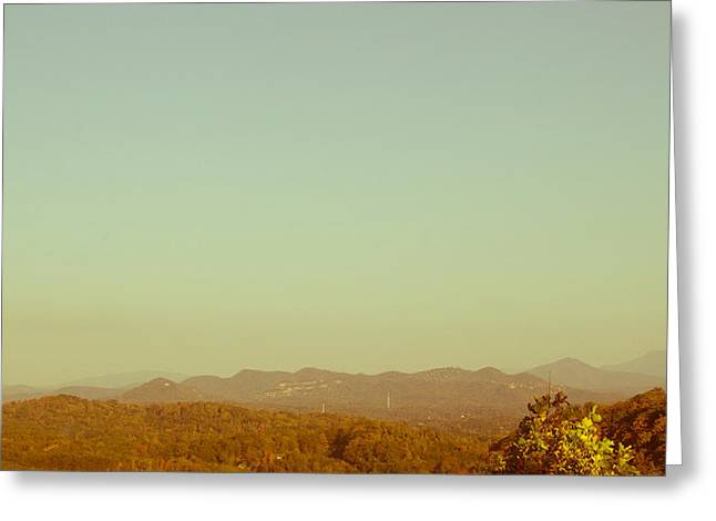 Driving Pyrography Greeting Cards - Mountain Range Greeting Card by Eric Higgins